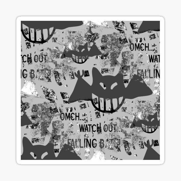 Grunge Bats Graffiti Sticker