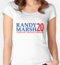 RANDY MARSH '20 - I THOUGHT THIS WAS AMERICA! Women's Fitted Scoop T-Shirt