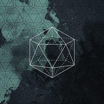 icosahedron waterbrush by mirkobenedetti