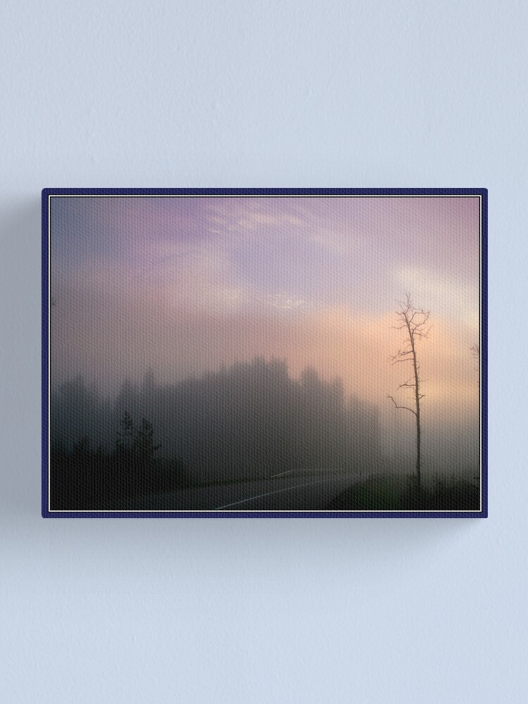 Alternate view of The road in the morning mist Canvas Print
