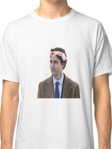 Justin Trudeau Flower Crown 2 Classic T-Shirt
