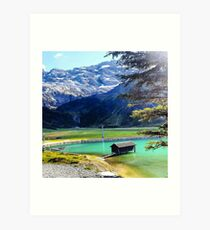 Glacier Lake in the Mountains Art Print