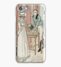 Charles Edmund Brock - Jane Austen His Question iPhone Case/Skin