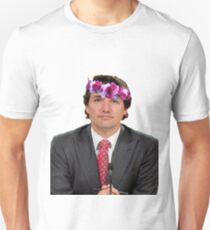 Justin Trudeau Flower Crown 3 Unisex T-Shirt