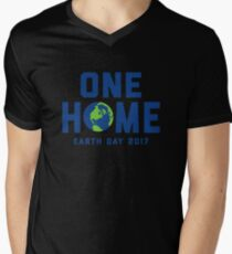 One Home - Earth Day 2017 Mens V-Neck T-Shirt