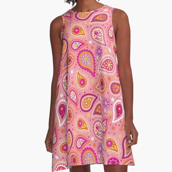 Colorful summer paisleys A-Line Dress