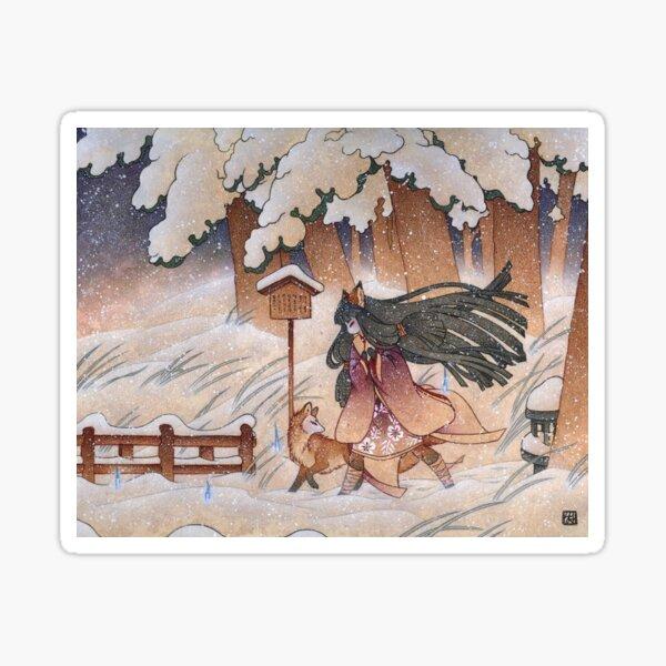 Blustery - Kitsune Yokai TeaKitsune Sticker