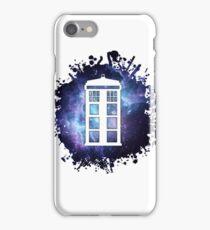 universe TARDIS splat  iPhone Case/Skin