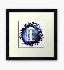 universe TARDIS splat  Framed Print