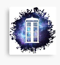 universe TARDIS splat  Canvas Print