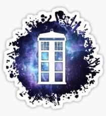 universe TARDIS splat  Sticker