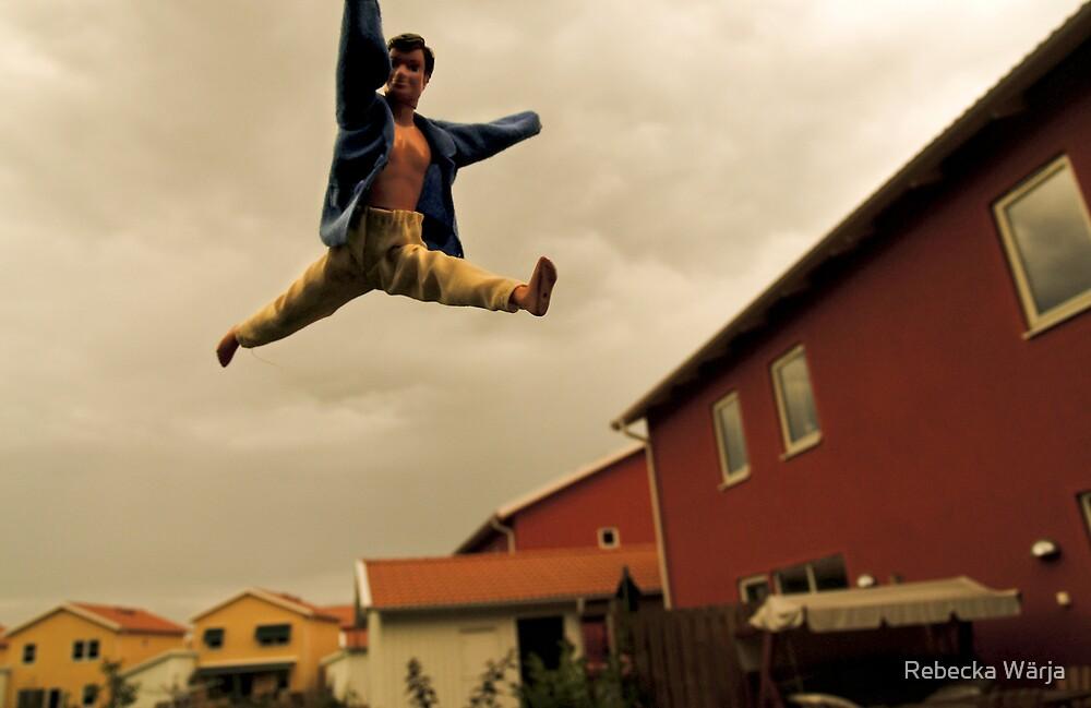 The flying man by Rebecka Wärja