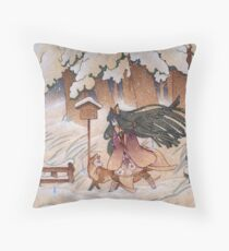 Blustery Throw Pillow
