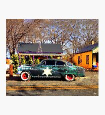 The Sheriffs Car Photographic Print