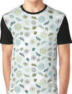 Seamless Abstract Floral Pattern Graphic T-Shirt