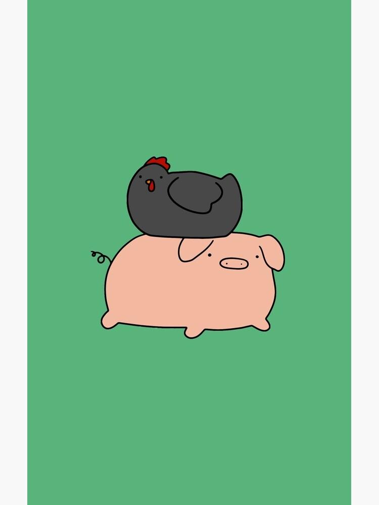 Schwarzes Huhn und Piggy von SaradaBoru