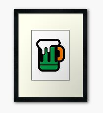 Green Beer - Irish Colors Framed Print