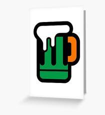 Green Beer - Irish Colors Greeting Card
