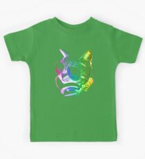 Rainbow Music Cat Kids Tee