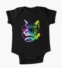 Rainbow Music Cat One Piece - Short Sleeve