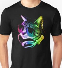 Rainbow Music Cat Unisex T-Shirt