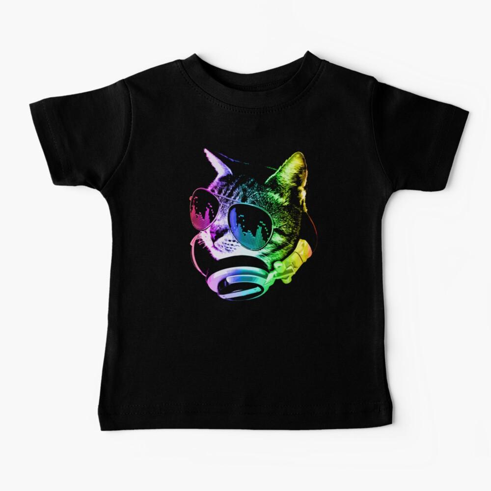 Rainbow Music Cat Baby T-Shirt