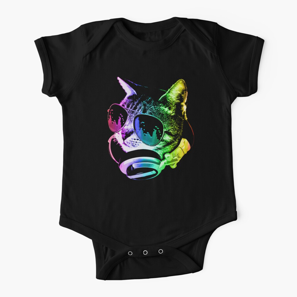 Rainbow Music Cat Baby One-Piece
