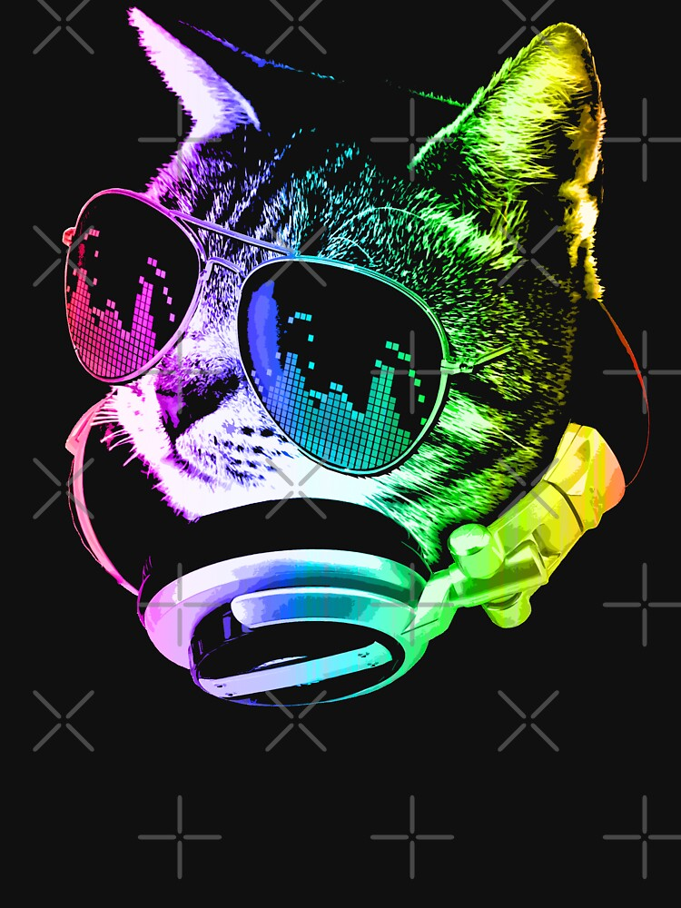 Rainbow Music Cat by robotface