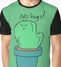 No Hugs! Cactus Graphic T-Shirt