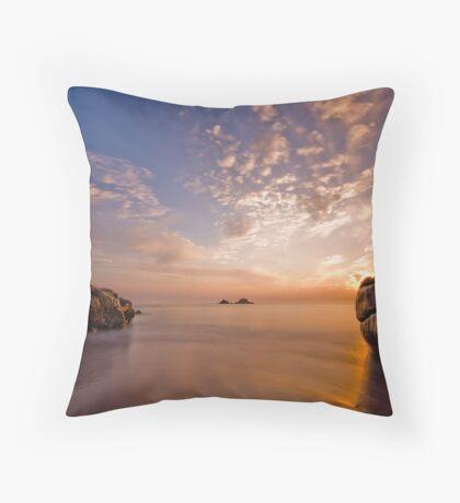 Porth Nanven III Throw Pillow