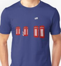 Easter bunny and telephone boxes T-Shirt