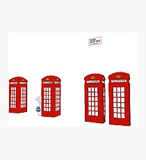 Easter bunny and telephone boxes Photographic Print