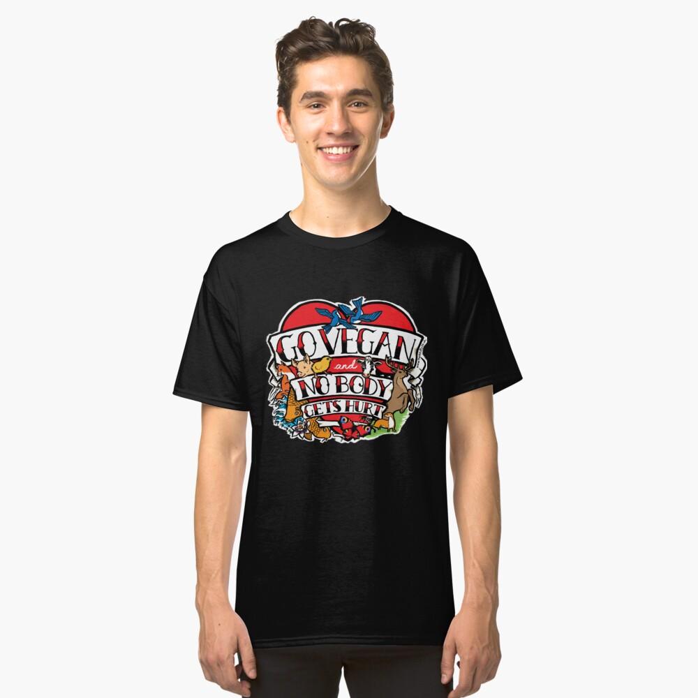 go vegan tattoo design Classic T-Shirt