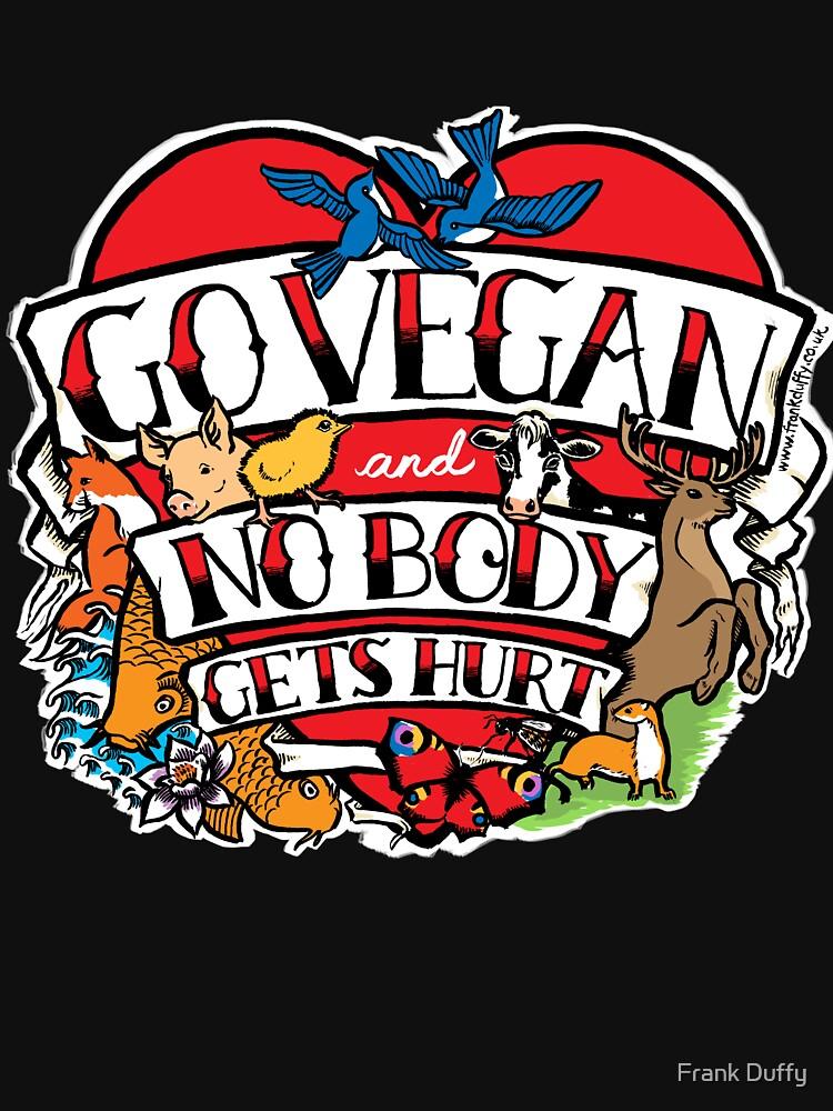 go vegan tattoo design by FrankDuffy