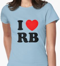 i heart RB Womens Fitted T-Shirt