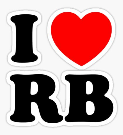 i heart RB Sticker
