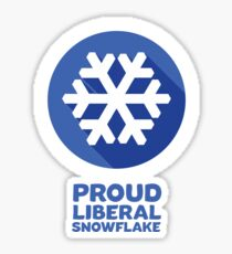 Proud Liberal Snowflake Sticker