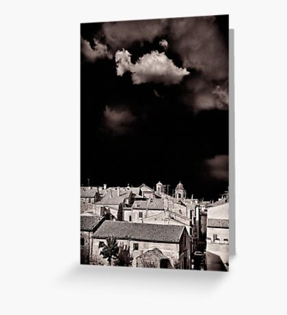 Cloud over Tuscania village, Italy. Greeting Card