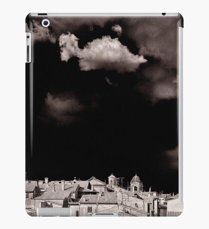Cloud over Tuscania village, Italy. iPad Case/Skin
