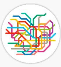Mini Metros - Tokyo, Japan Sticker