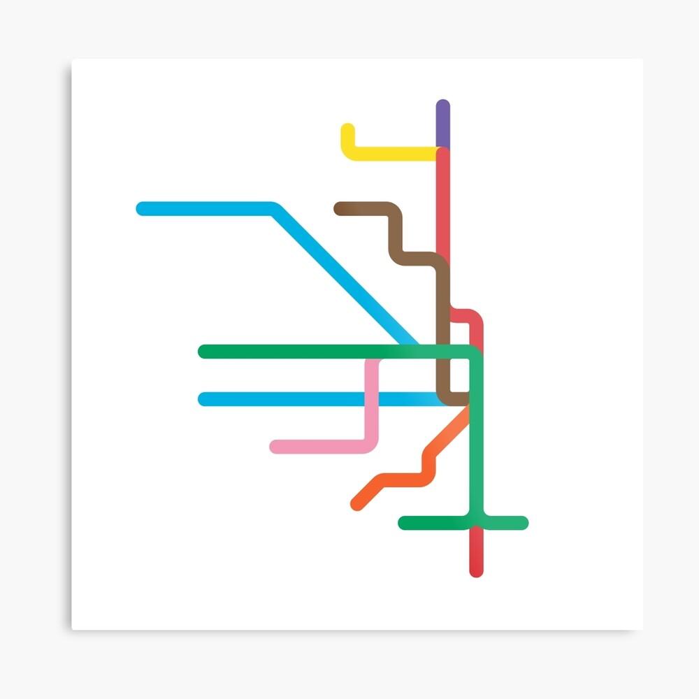 Mini Metros - Chicago, États-Unis Impression métallique