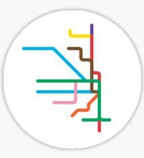 Mini Metros - Chicago, United States Sticker