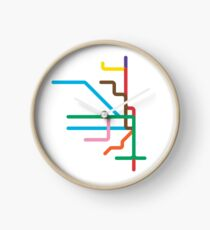 Mini Metros - Chicago, United States Clock