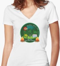 GET TIGHT - SCI - String Cheese Incident - Camping Bonfire Women's Fitted V-Neck T-Shirt