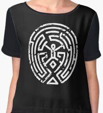 Westworld Maze Distressed Chiffon Top