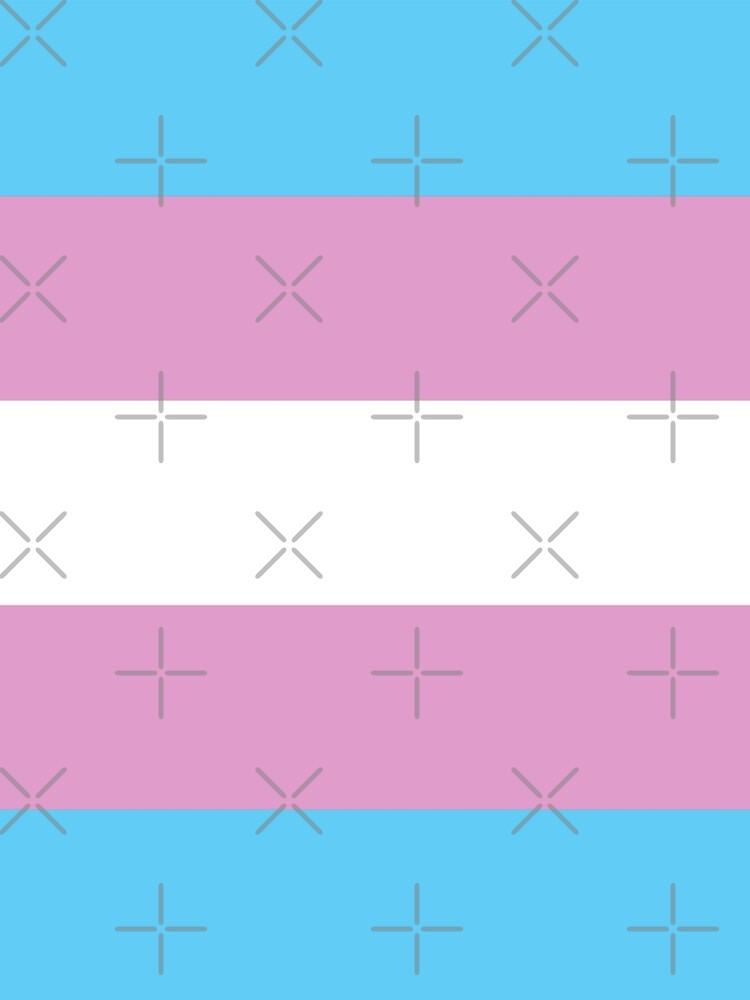 Trans Pride Flag Stripe by queeradise