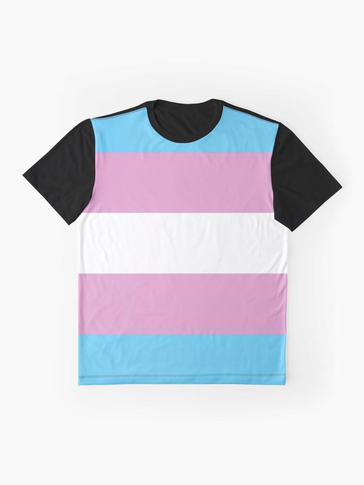 Alternate view of Trans Pride Flag Stripe Graphic T-Shirt