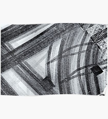 Snow abstract Poster