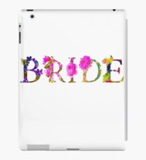 Floral Bride Bachelorette iPad Case/Skin