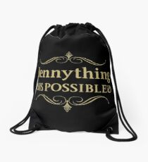 Hennything Is Possible - Royal Design Drawstring Bag
